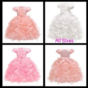 Other - Girl Dresses Ruffle Lace Pageant Party Wedding